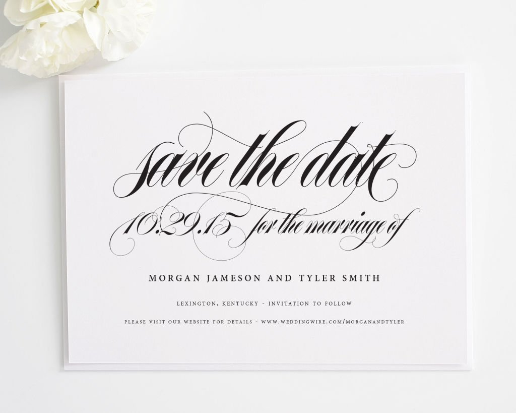 Calligraphy Names Save the Dates