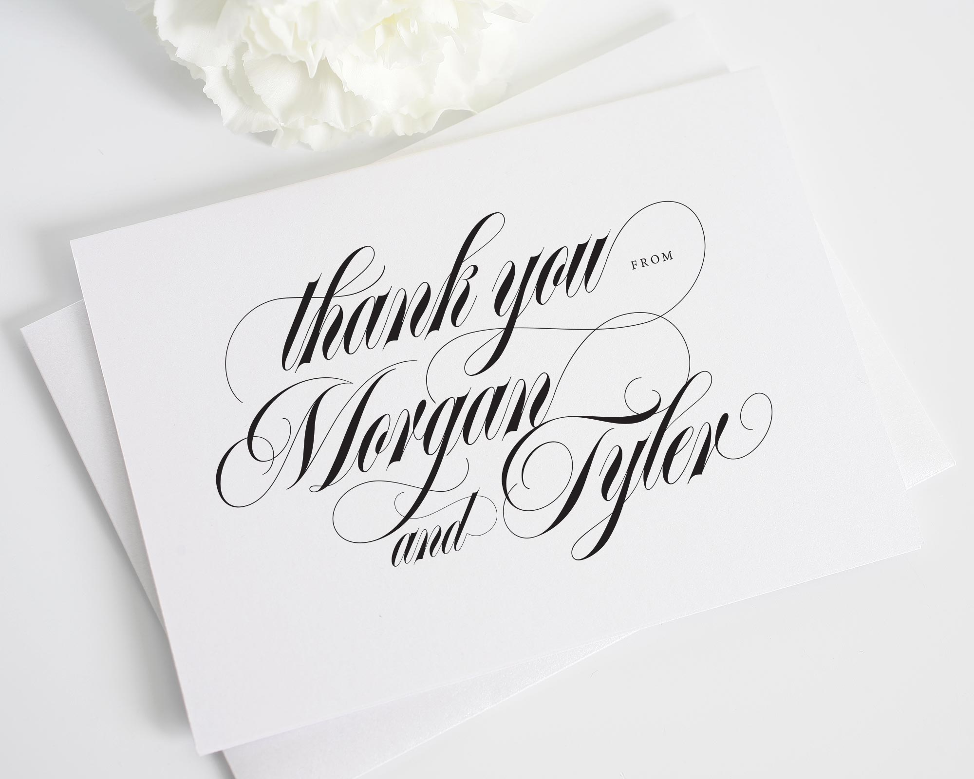 Calligraphy names thank you cards thank you cards by shine Thank you in calligraphy writing