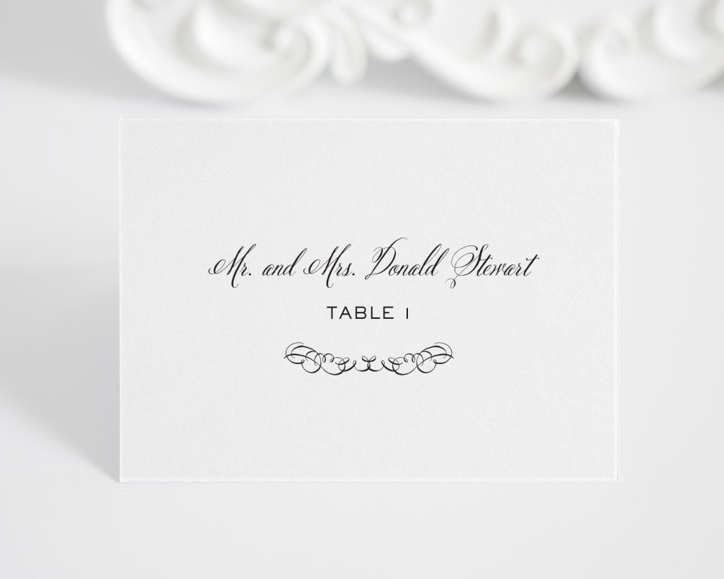 Chic Elegance Tented Place Cards