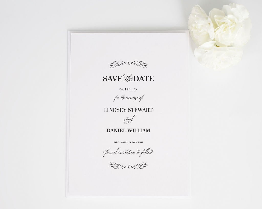 Chic Elegance Save the Dates