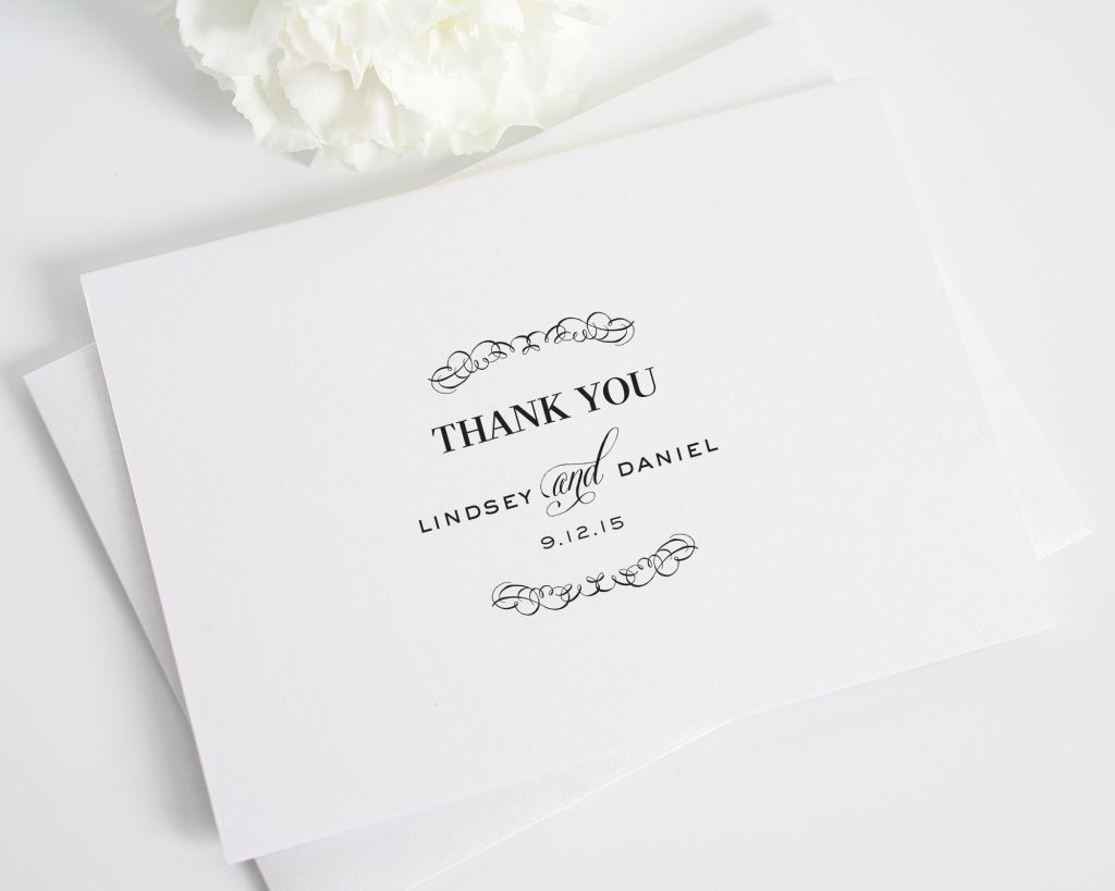 Chic Thank You Cards in Black and White