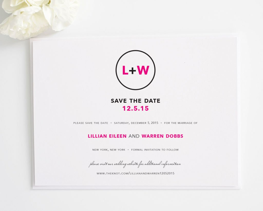 Circle Logo Save the Date Cards