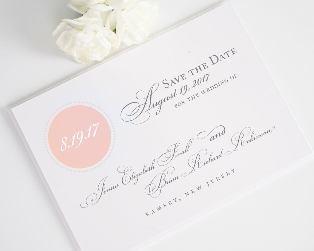 Cirlce Monogram Save the Date Card