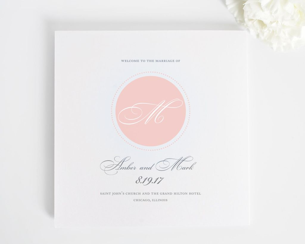 Circle Monogram Wedding Programs