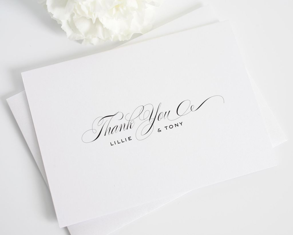 Classic Wedding Thank You Cards