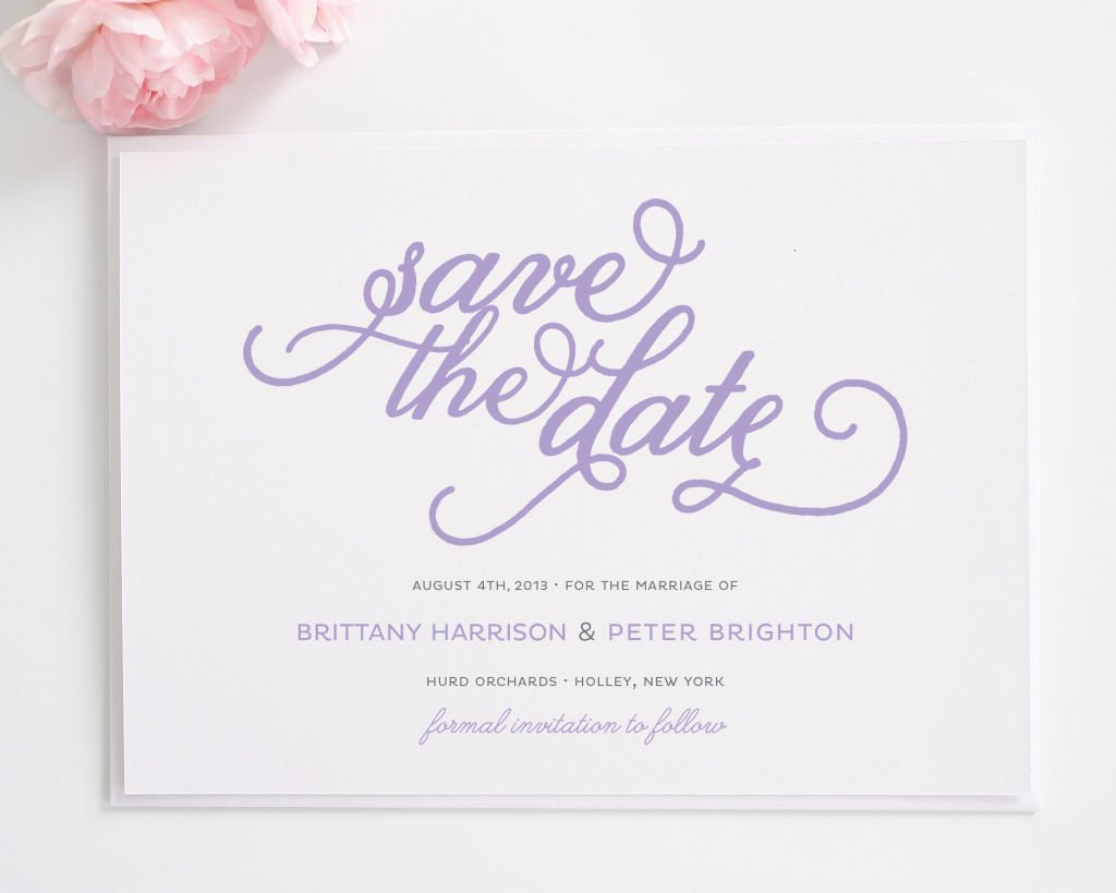 Classic Whimsy Save the Date Cards