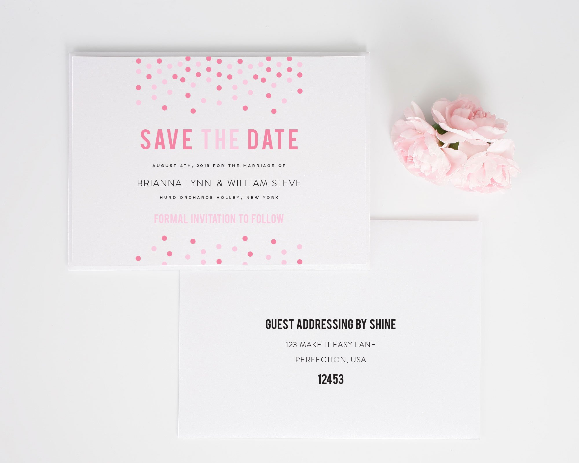 Addressing save the dates in Melbourne