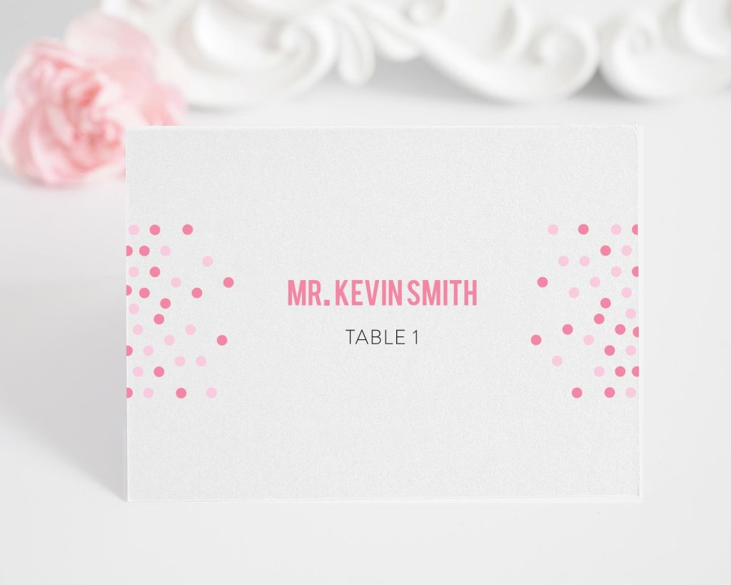 Confetti Name Cards