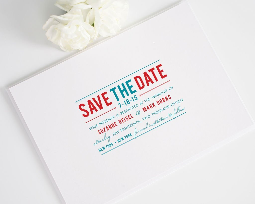 Contemporary Stack Save the Dates