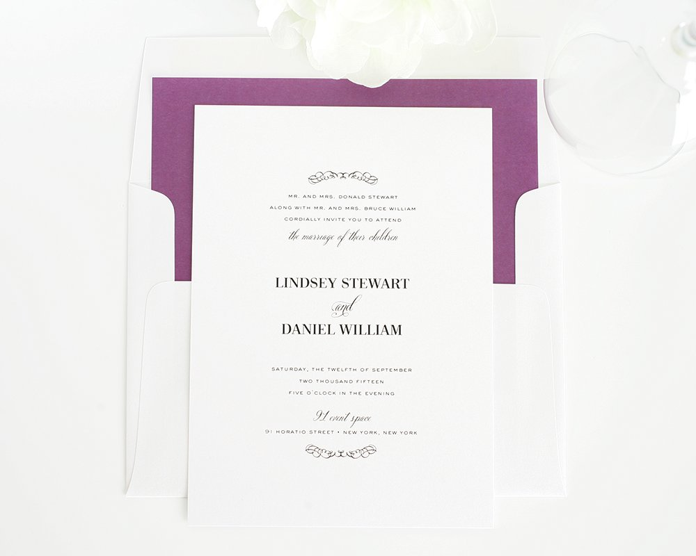 Wedding invitations for a country wedding