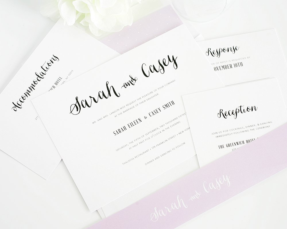 Cute and stylish wedding invitations
