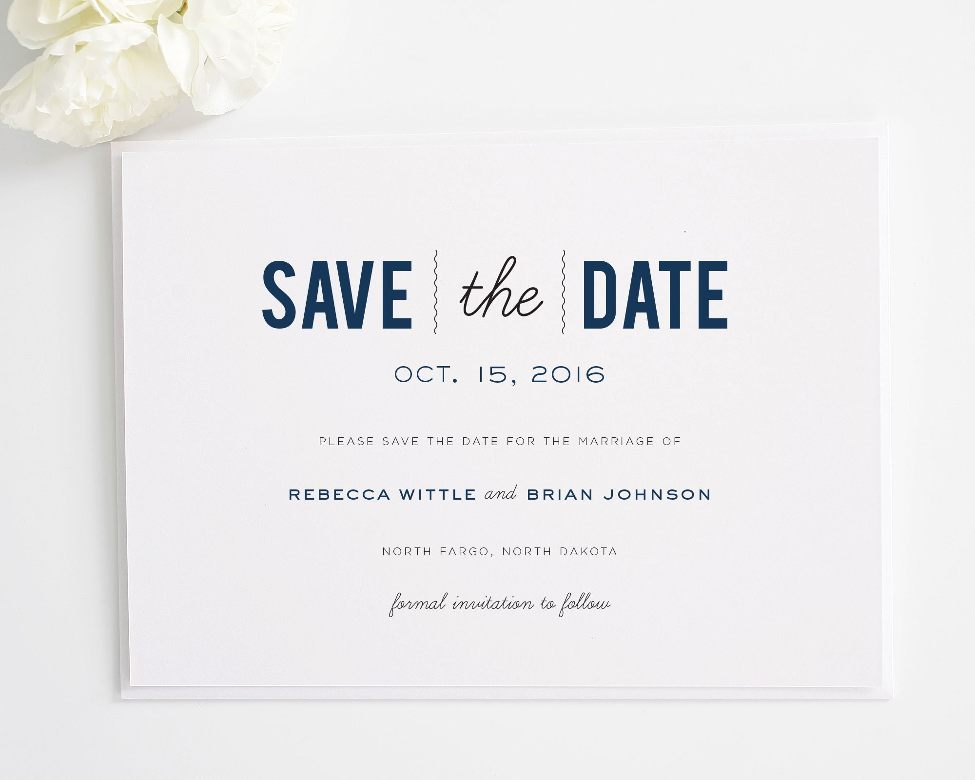 Date Monogram Save the Date Cards - Save the Date Cards by Shine