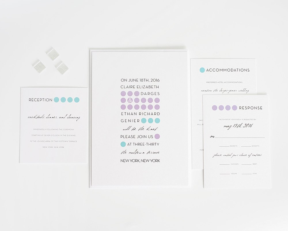 Modern Dots Wedding Invitations