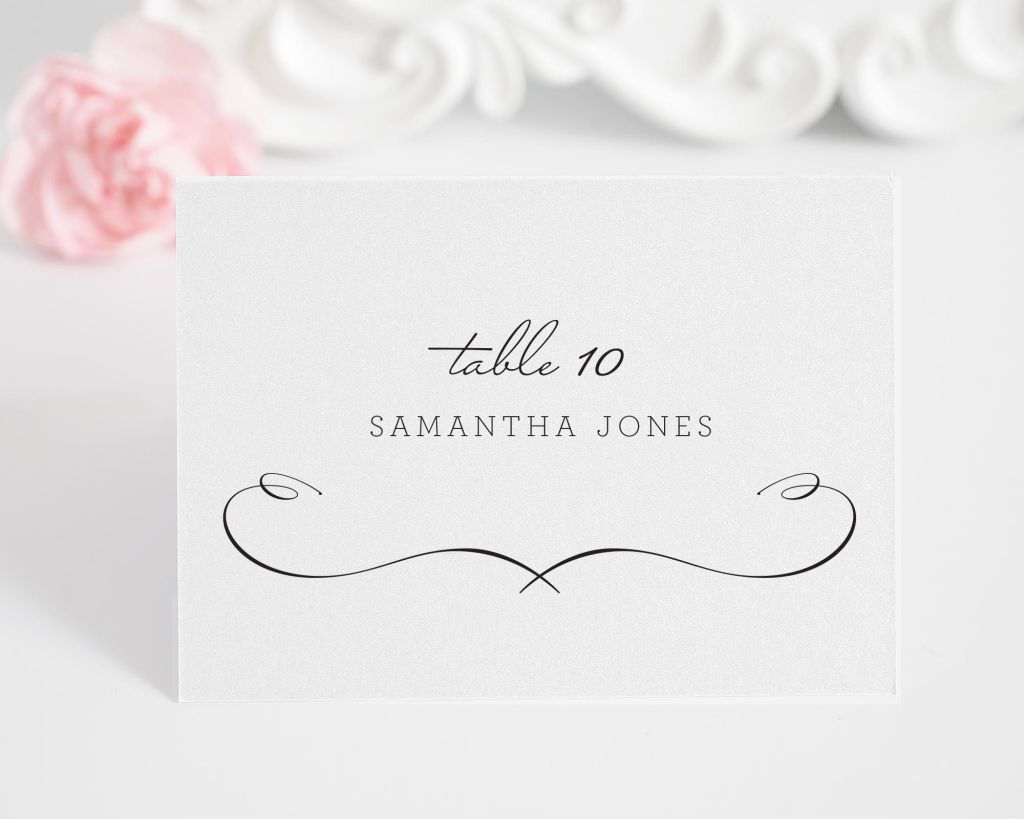 French Country Escort Cards
