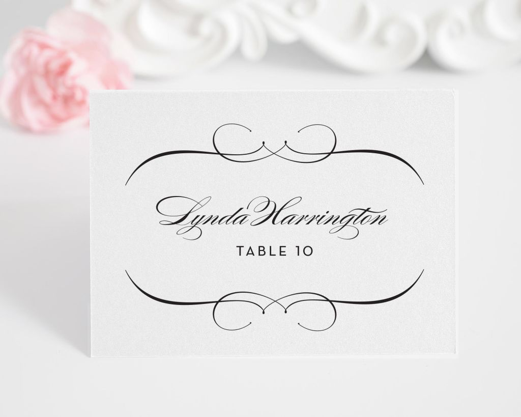French Romance Name Cards