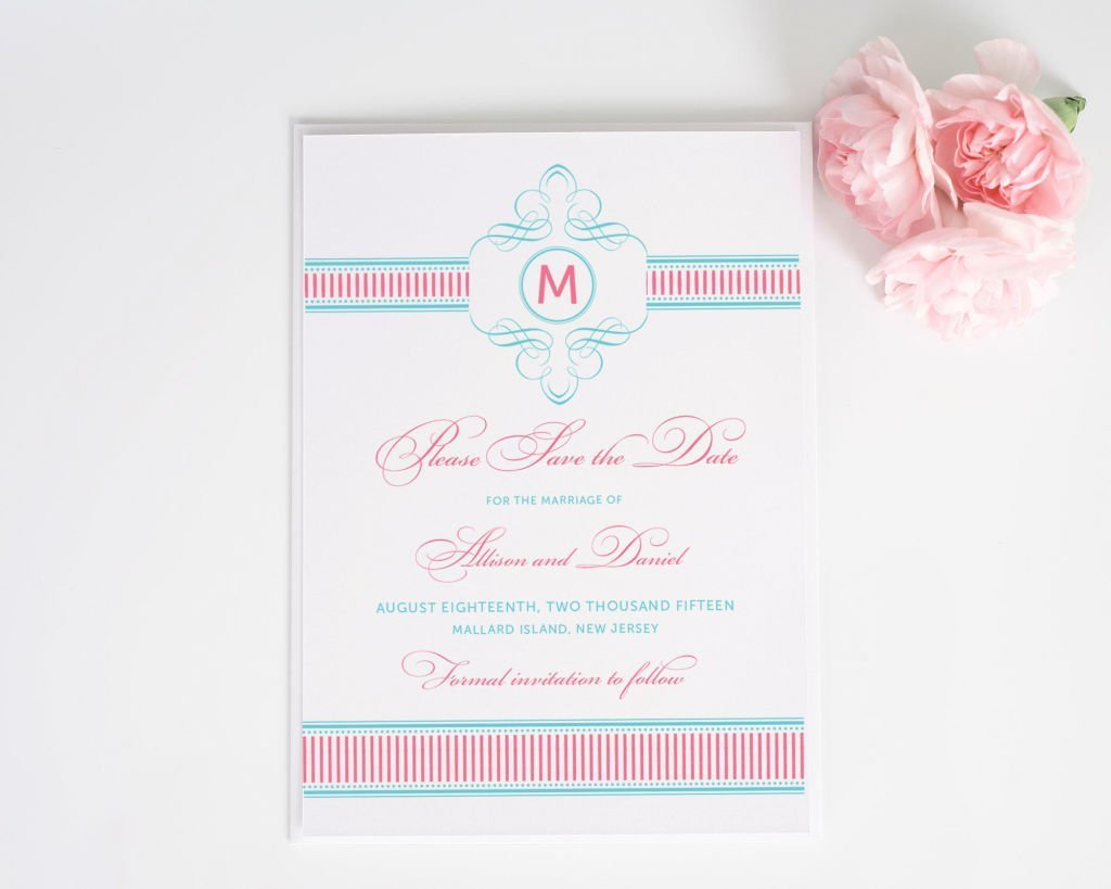 French Stripes Save the Date Cards