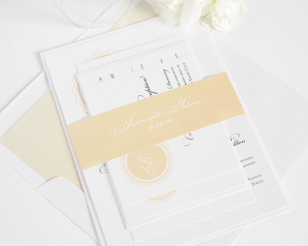 Light Peach Wedding Invitations