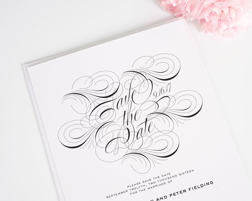 Luxe Flourish Save the Dates