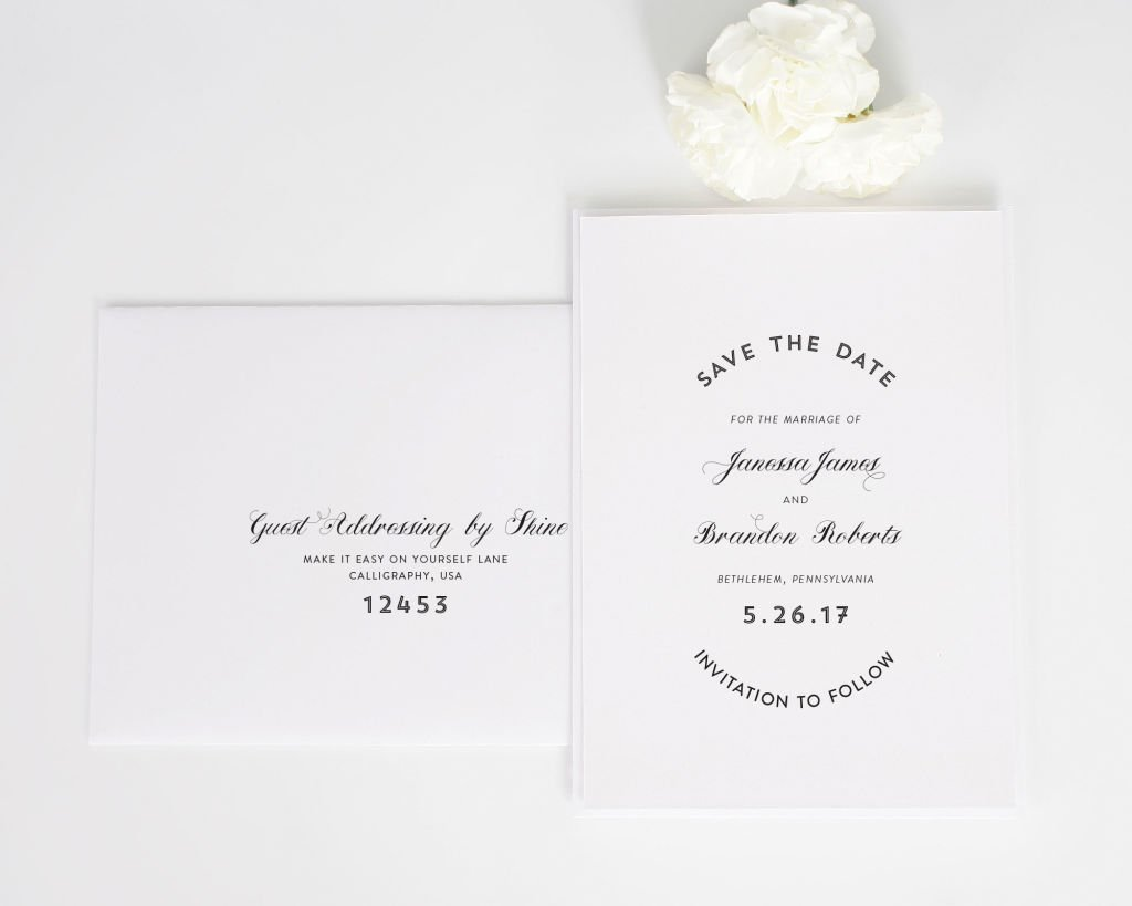 Marriage Label Save the Date Cards with Addressing