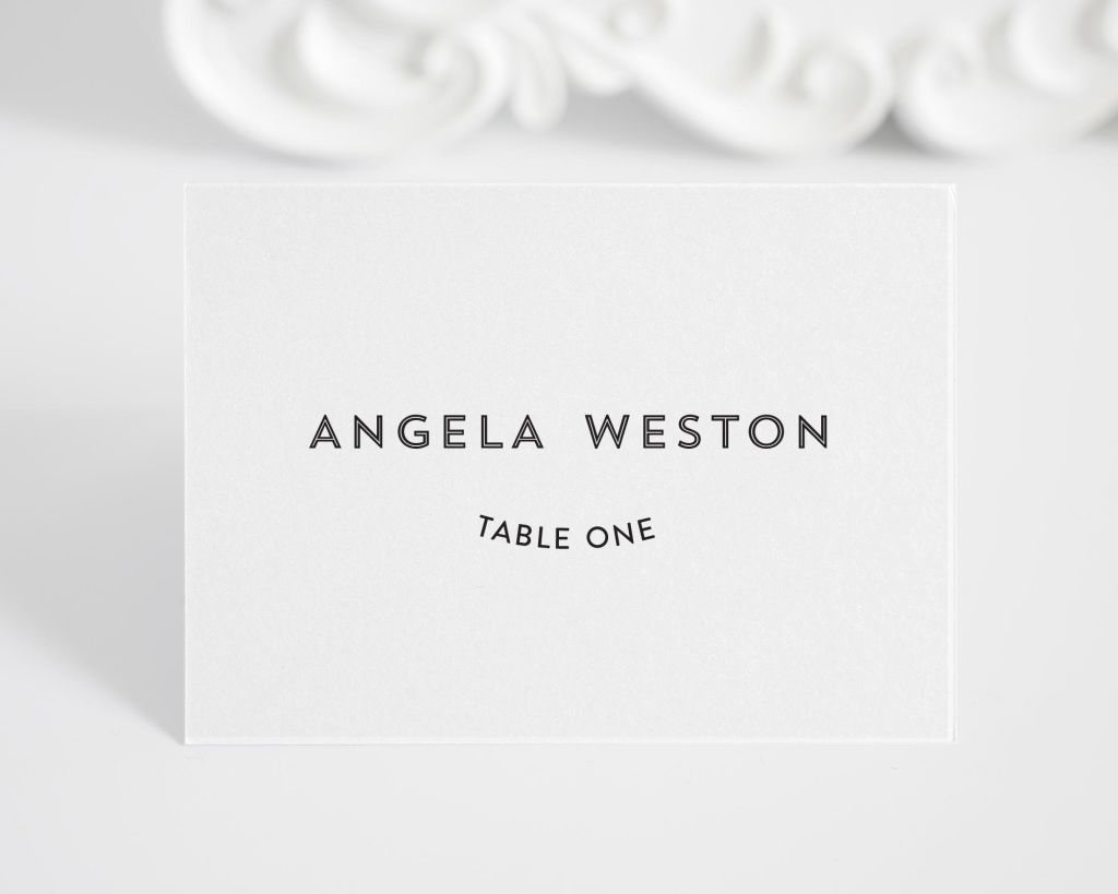 Marriage Label Place Card