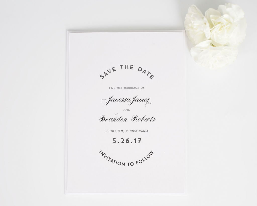 Marriage Label Save the Date Card