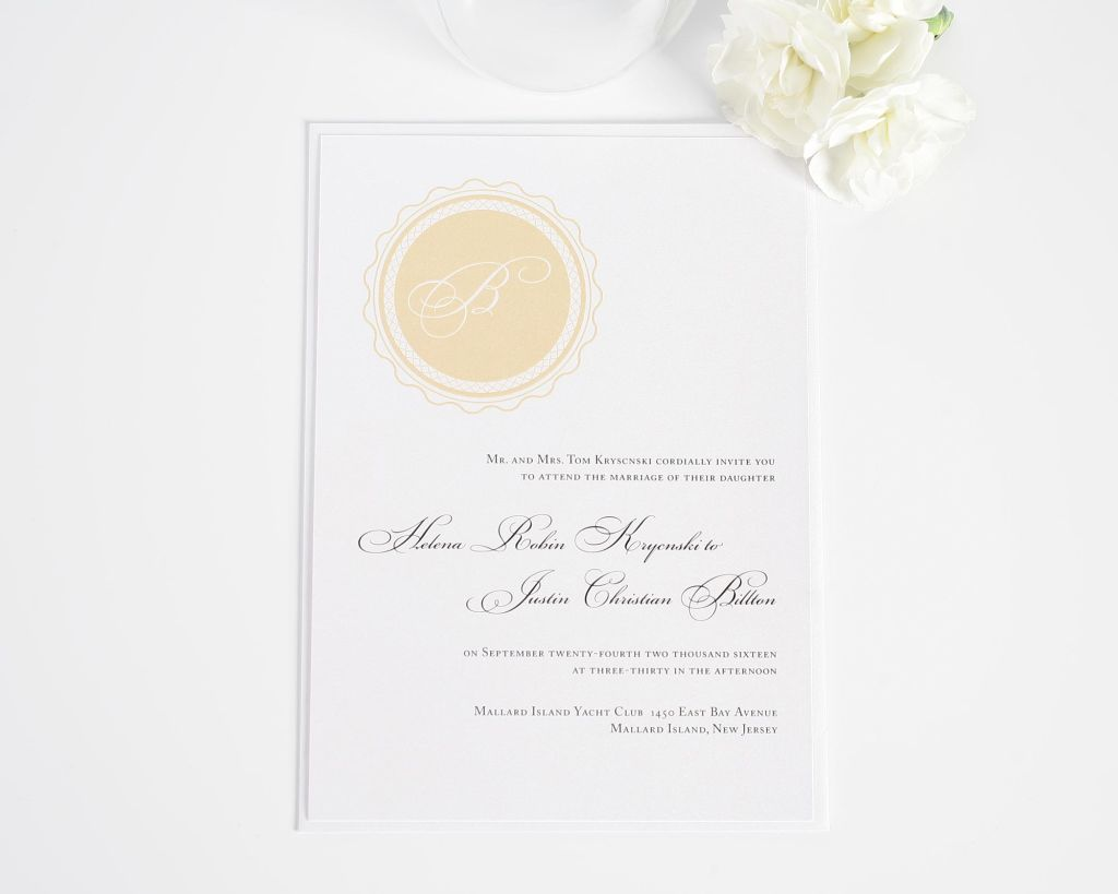 Medallion Monogram Wedding Invitations