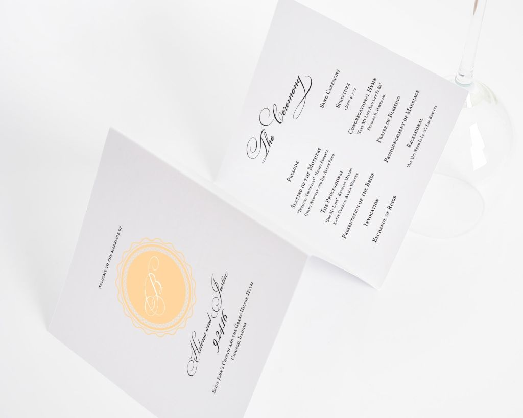 Medallion Monogram Wedding Ceremony Programs