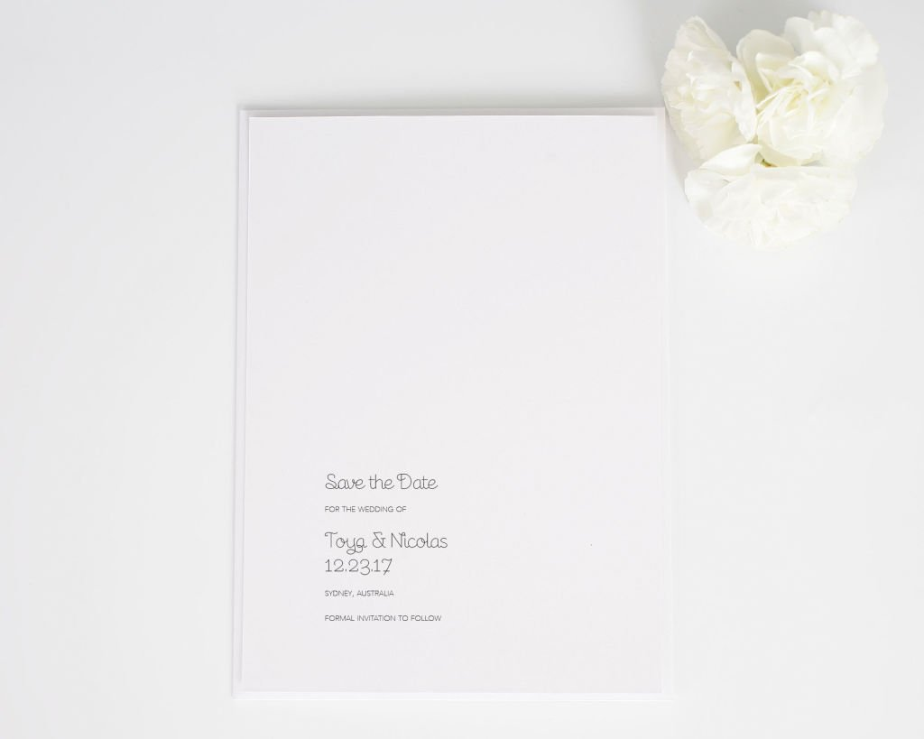 Minimalist Save the Dates