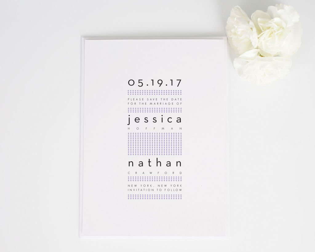 Modern Dots Save the Date Cards