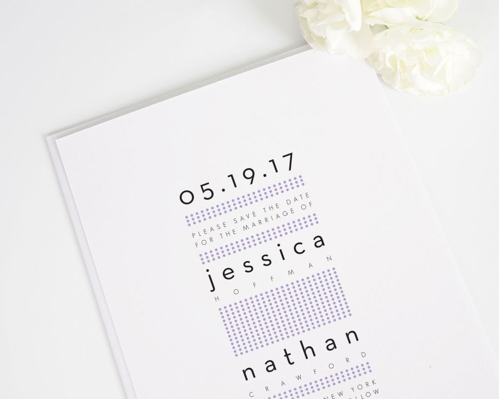 Modern Dots Save the Date