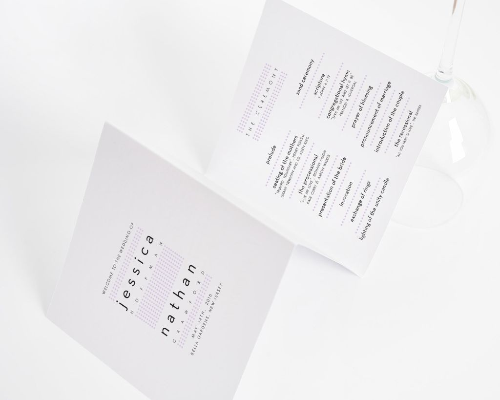 Modern Dots Wedding Ceremony Programs