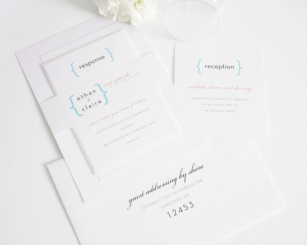 Modern Wedding Invitations with Guest Addressing