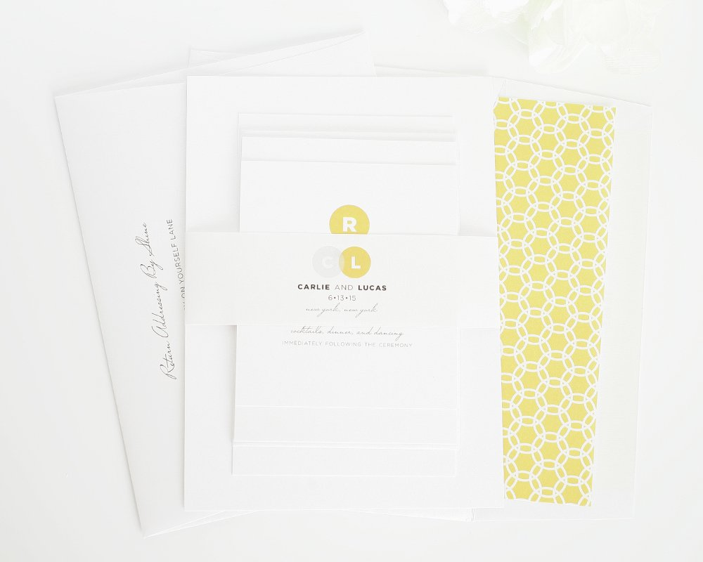 Modern and Simple Wedding Invites