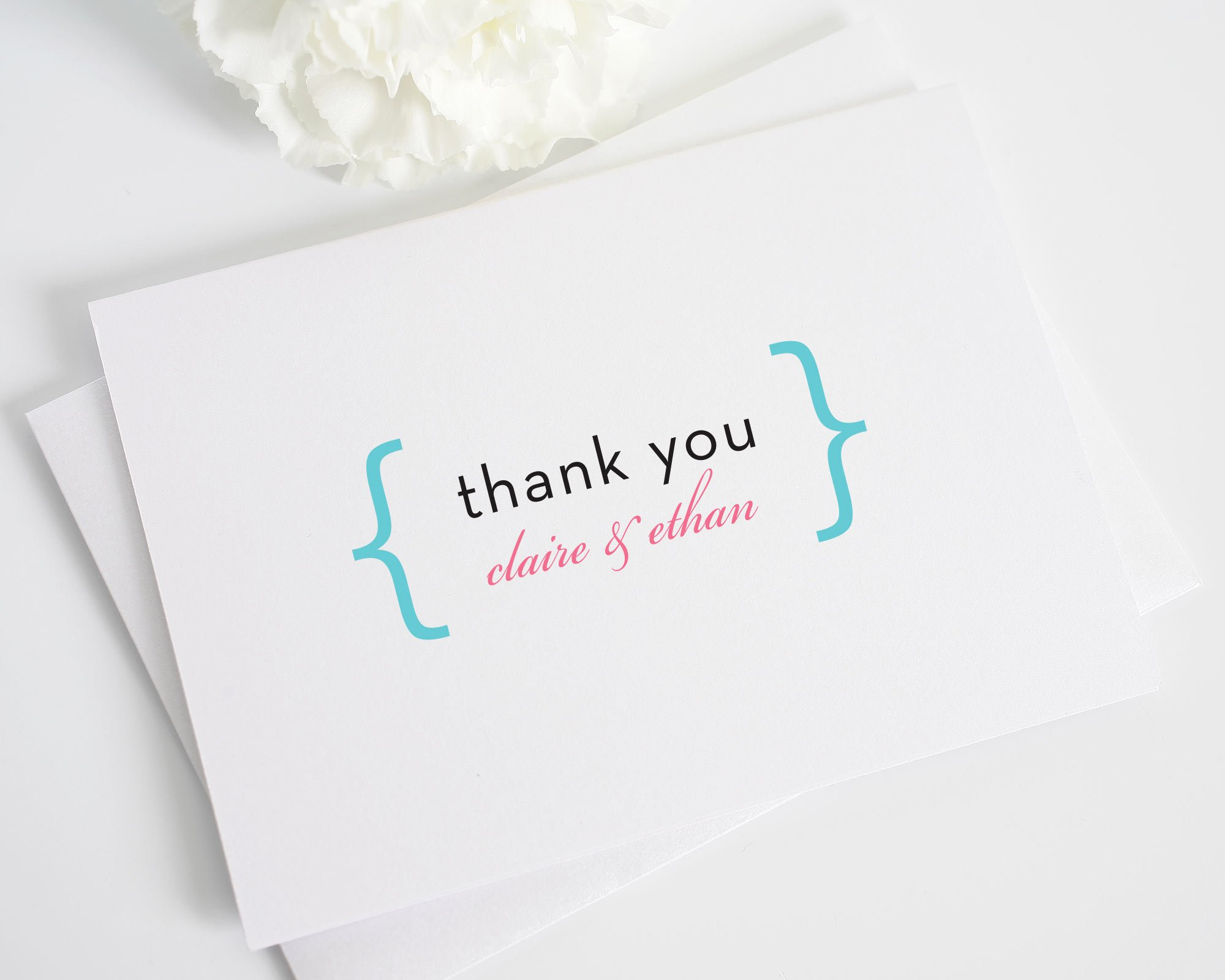 modern thank you cards for your wedding