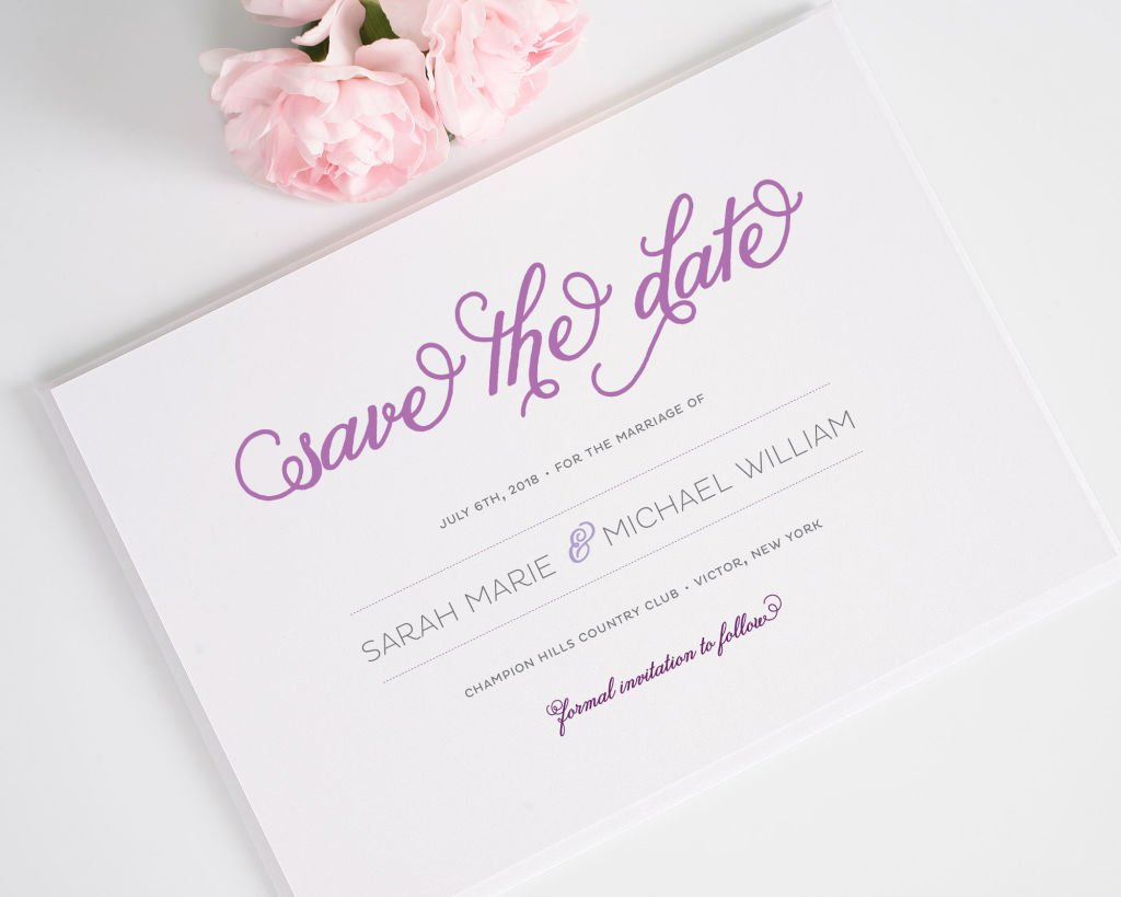 Modern Whimsy Save the Date Cards