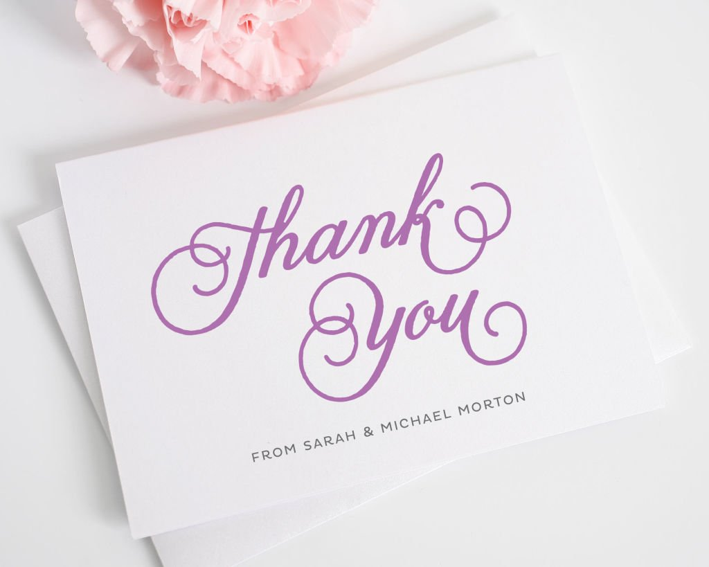 Modern Whimsy Thank You Note