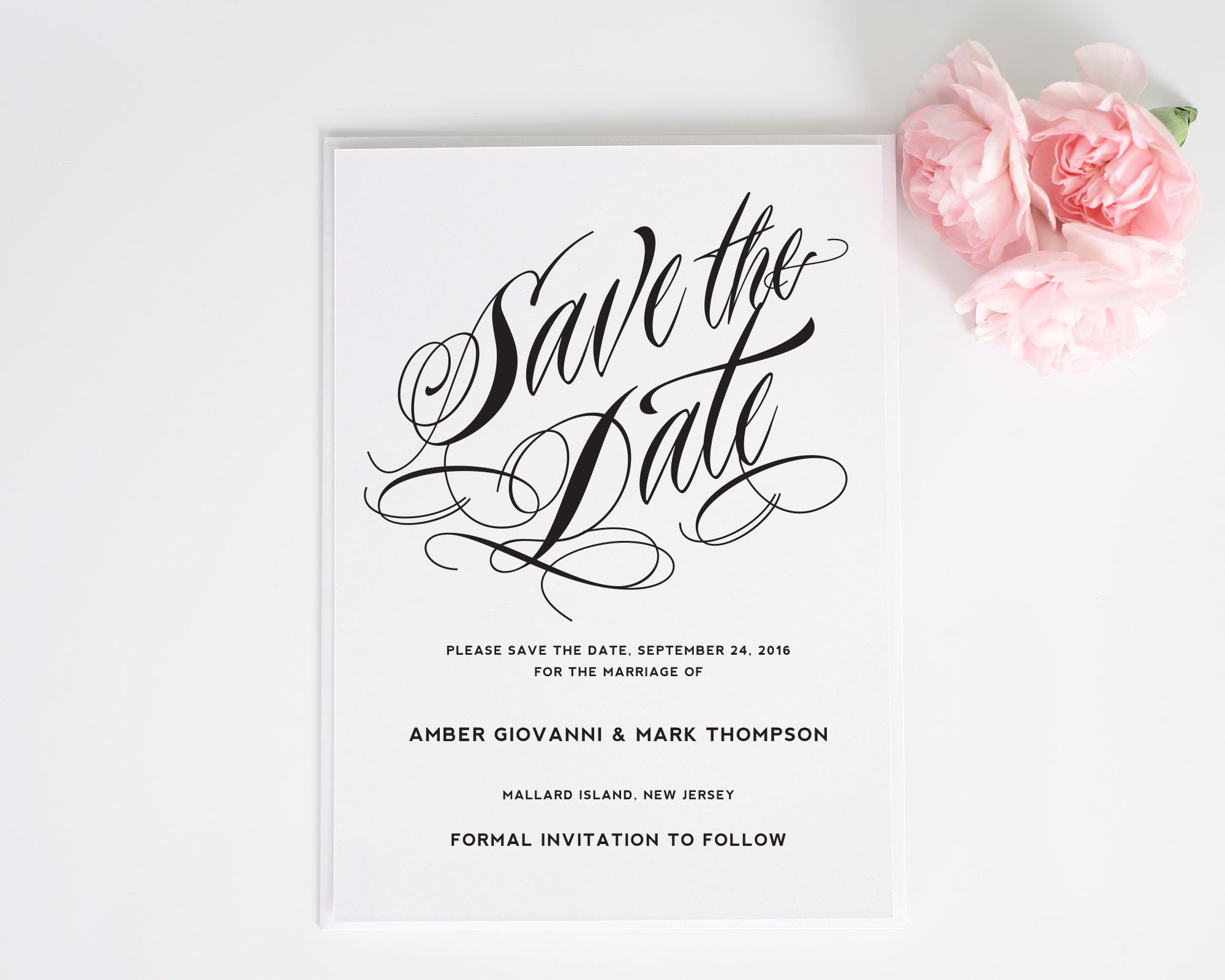 Ravishing Script Save the Date Cards - Save the Date Cards ...