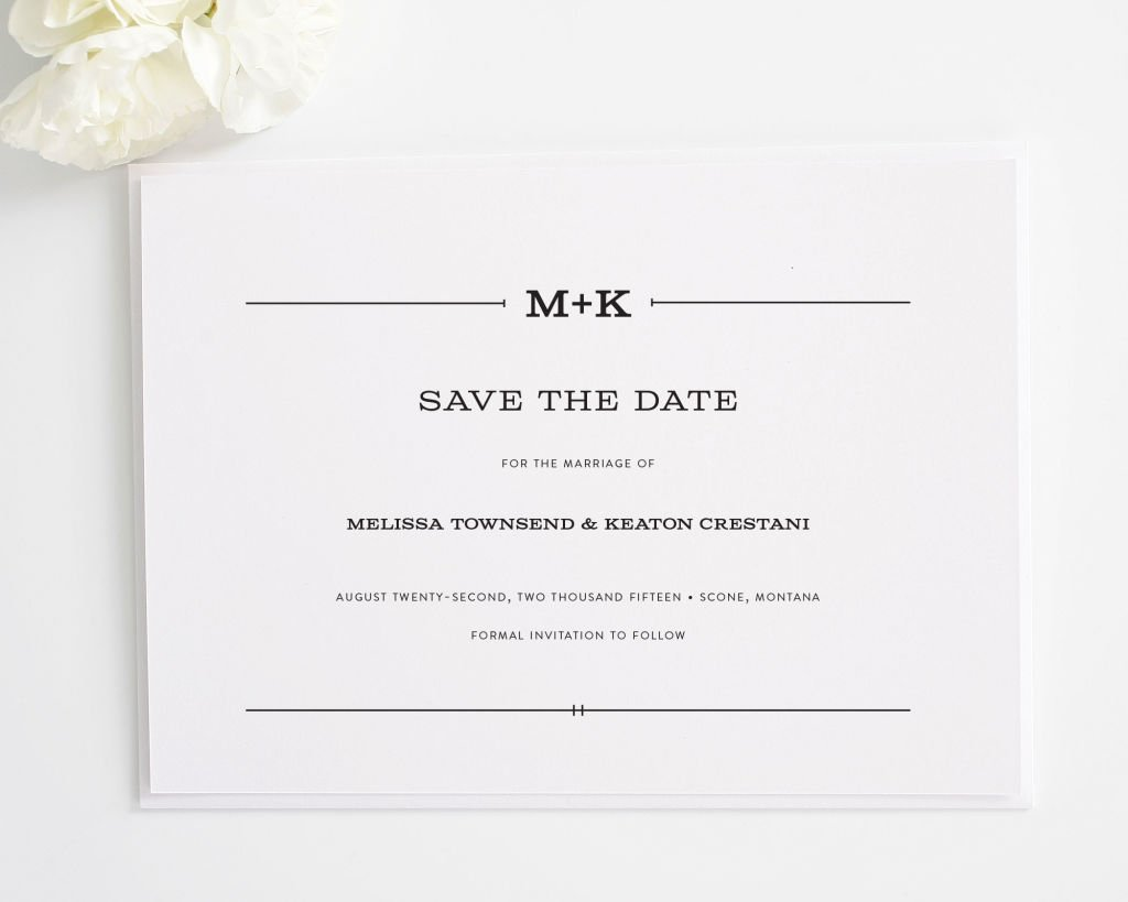 Rustic Simplicity Save the Dates