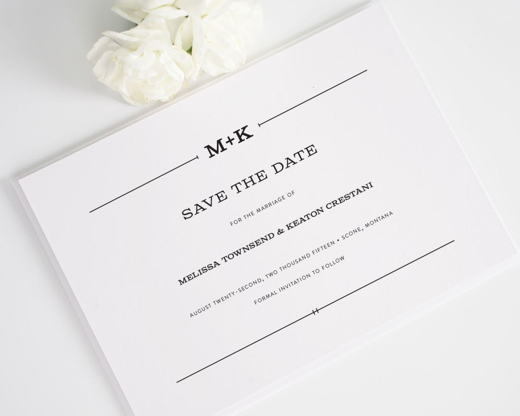 Rustic Simplicity Save the Date Card