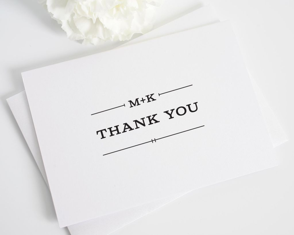 Simple Rustic Thank You Cards