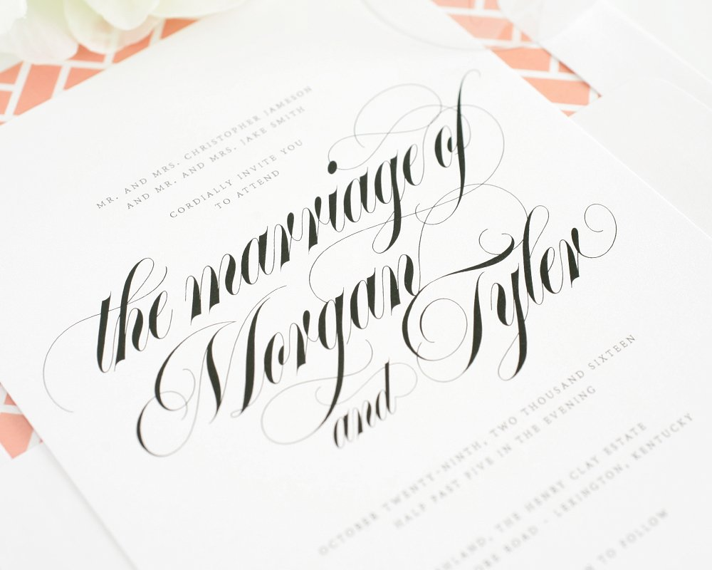 Wedding Invitations with Script