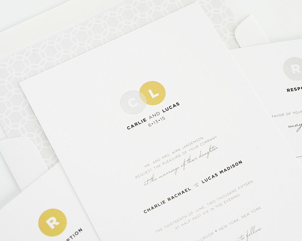 Simple and modern wedding invitations