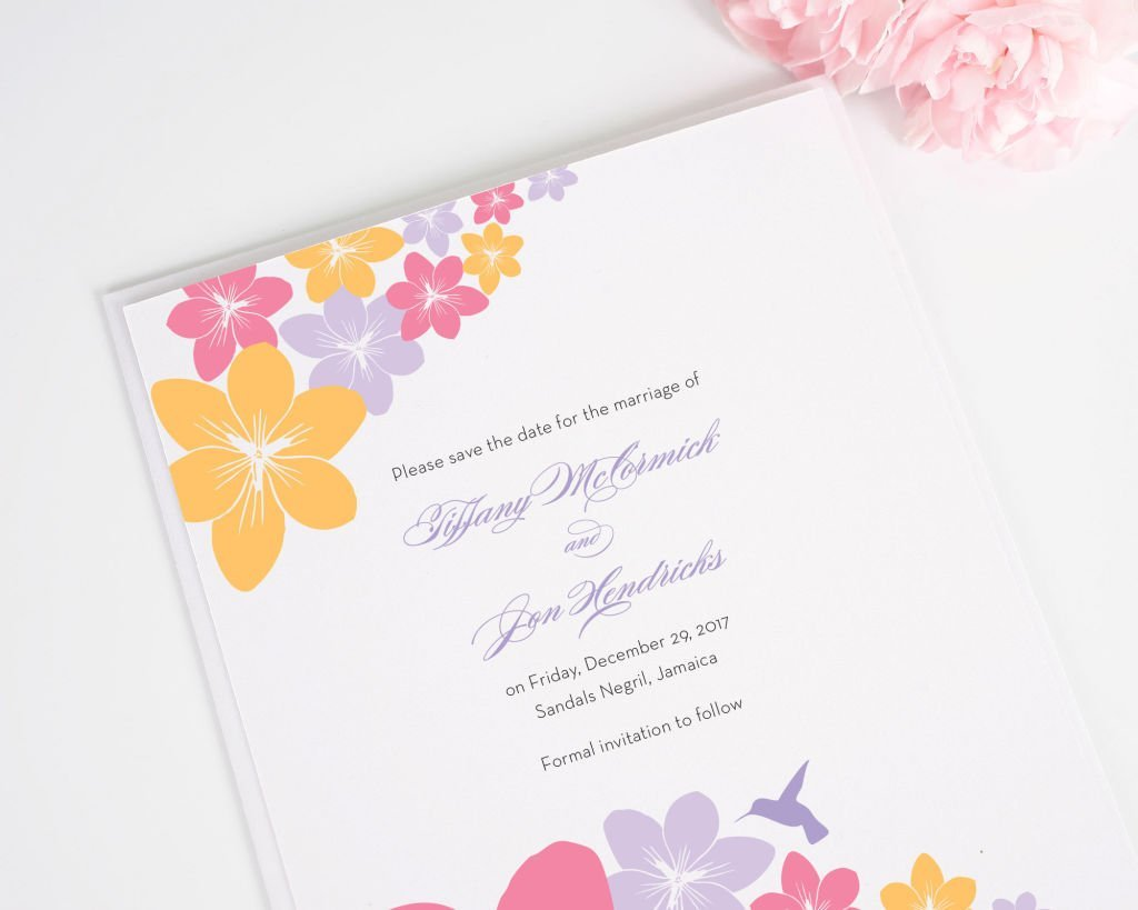 Tropical Hummingbird Save the Date Card