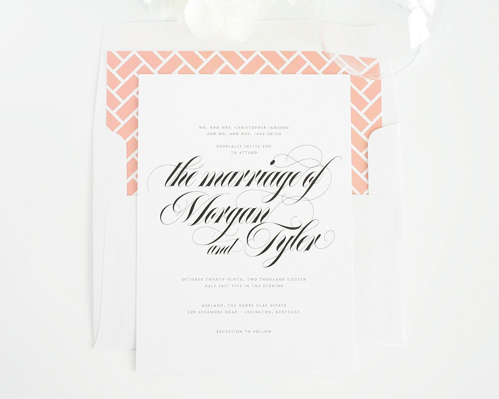 beautiful upscale wedding invitations