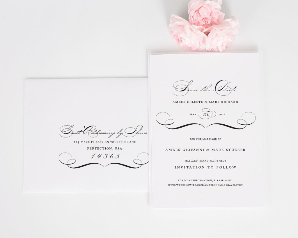 Vintage Class Save the Date with Addressing