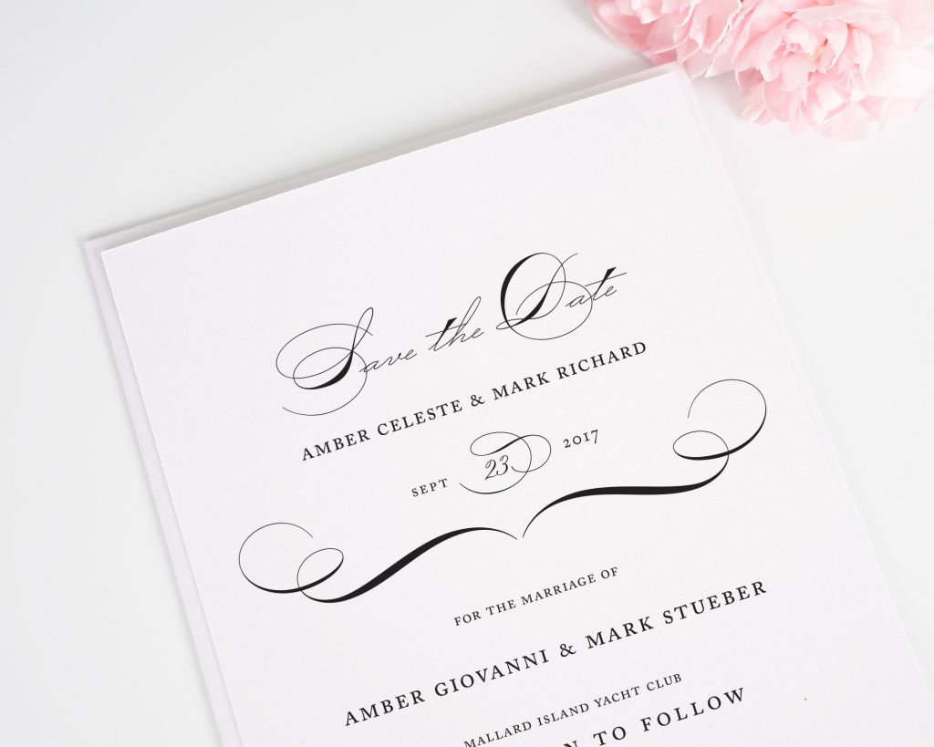 Vintage Class Save the Date Cards