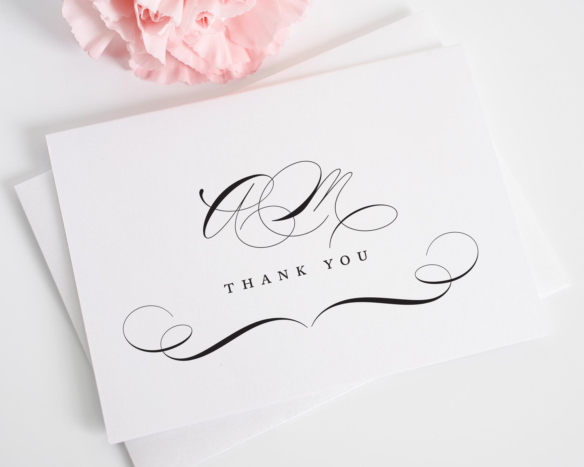 Wedding Thank You Cards with Monogram - Thank You Cards by Shine