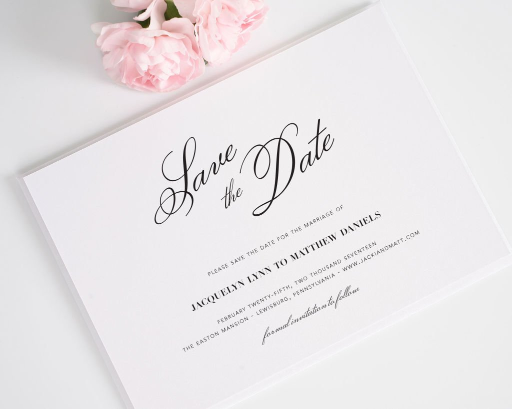 Vintage Romance Save the Date Cards