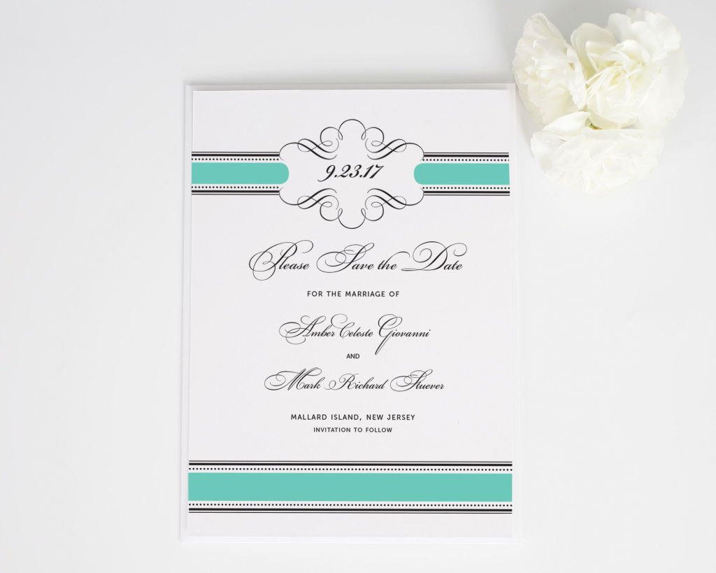 Vintage Wrap Save the Date Cards