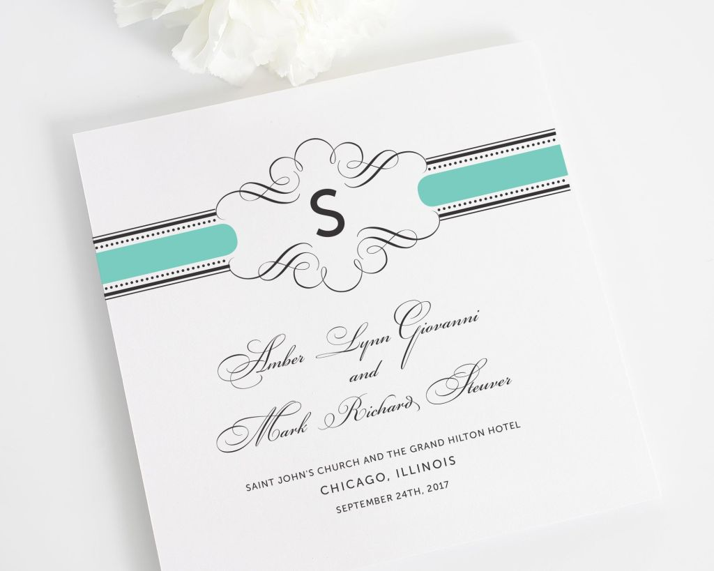 Vintage Wrap Wedding Ceremony Programs